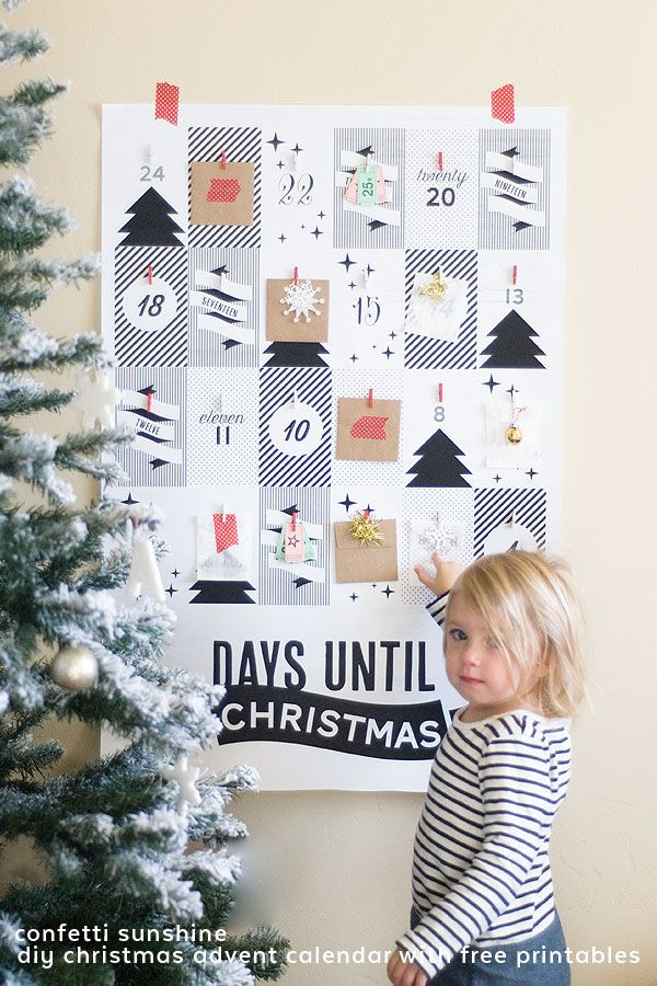 Self Made Christmas Calendar : This advent calendar comes with a free printable poster to