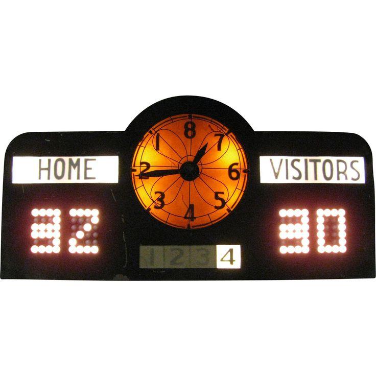 Vintage Basketball Score Board Ohio High School
