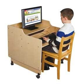 Contender Ready To Assemble Mobile Computer Desk