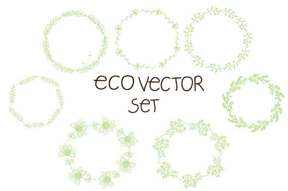 vector set of floral wreaths by Lesia.kabakova on @creativemarket