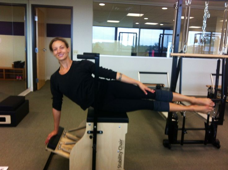 Cirque du Soleil artist Robyn Houpt training on the Stability Chair™