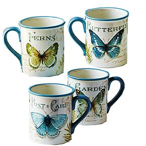Ceramic Butterfly Mugs | Smithsonian Museum Store