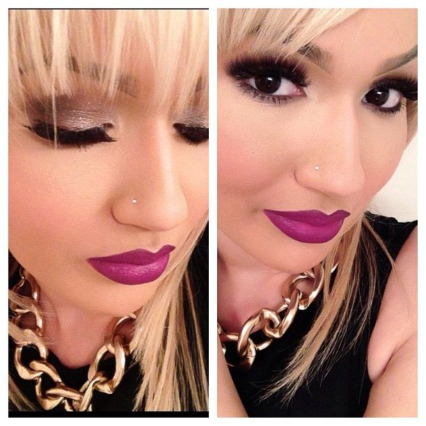<3 love the make up!! and omg those lips!! love the color so wish i could pull this off!!