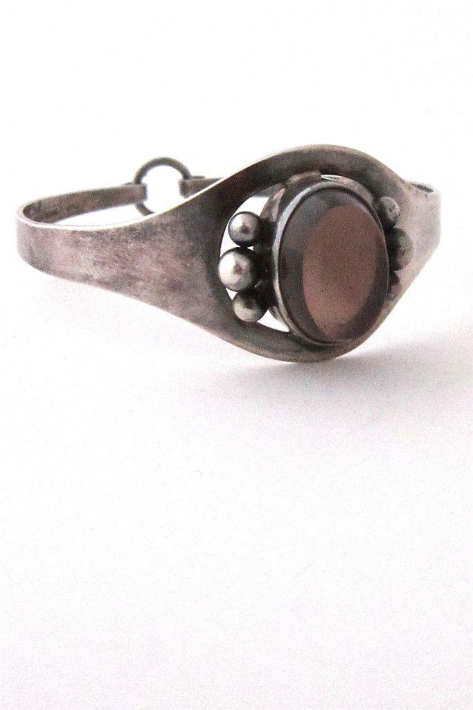 Erik Granit, Finland, 1966 - sterling silver and smoky quartz bracelet