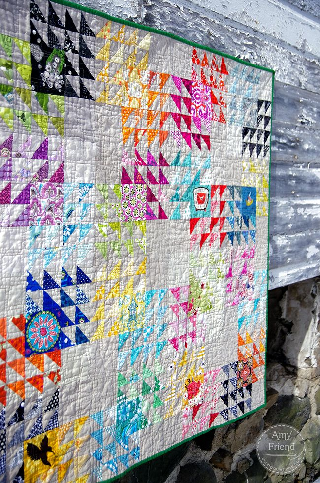 Winged Square Bee Quilt