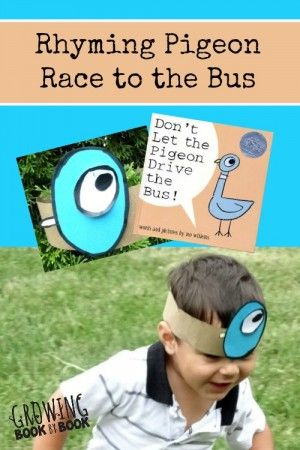 Literature  2- Rhyme to drive For this activity the teacher need to set up a bus (or cardboard bus), move cards, a list of on live rhyme words and materials to make pigeon headbands. The way the game works: all students line up together at the back of the bus, the teacher asks the 1st students to rhyme with the first word, if correct student picks a move card and moves however many places the card says (play till someone reaches driver seat)