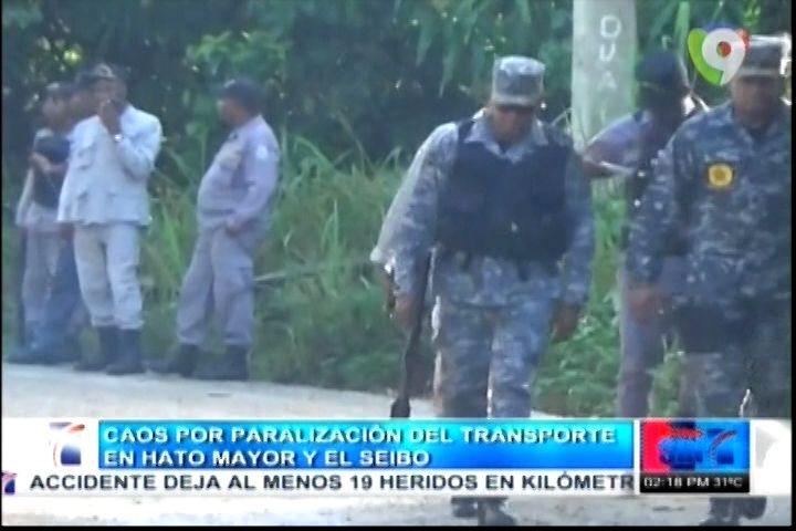 Caos Por Paralización Del Trasporte De Hato Mayor Y El Seibo; En Demanda De La Reparación De Carretera