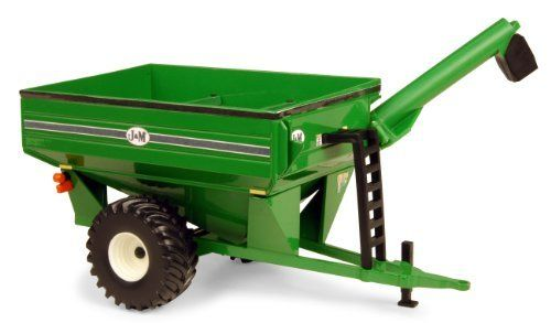 Ertl Collectibles 1:32 J And M Grain Cart by Ertl Collectibles. $25.99. Age grade 3+ years. Die-cast frame and grain box. Folding unloading auger. Soft plastic tires. Hitches to 1:32 tractors. From the Manufacturer                This highly detailed 1:32 JandM Grain Cart features a die-cast frame and grain box, folding unloading auger. Hitches to 1:32 tractors. Age grade 3+ years.                                    Product Description                This highly detai...