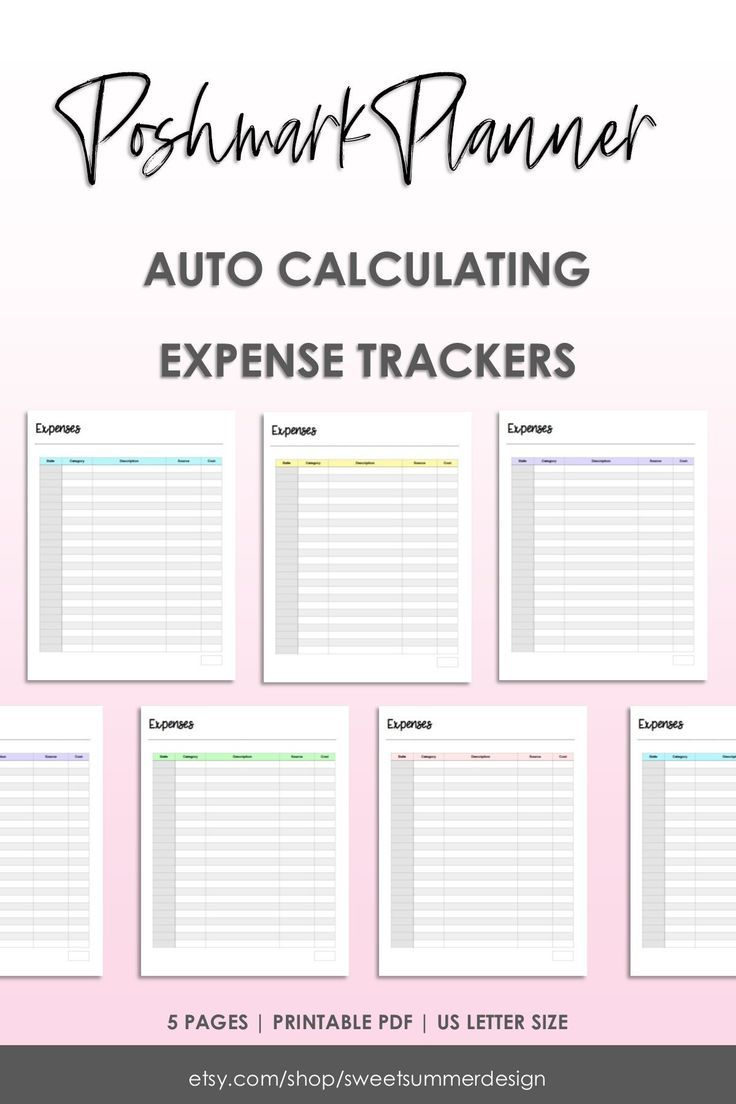 Auto Calculate Online Shop Expenses Tracker Reseller Expenses Etsy Expenses Printable Expense Tracker Network Marketing Tips