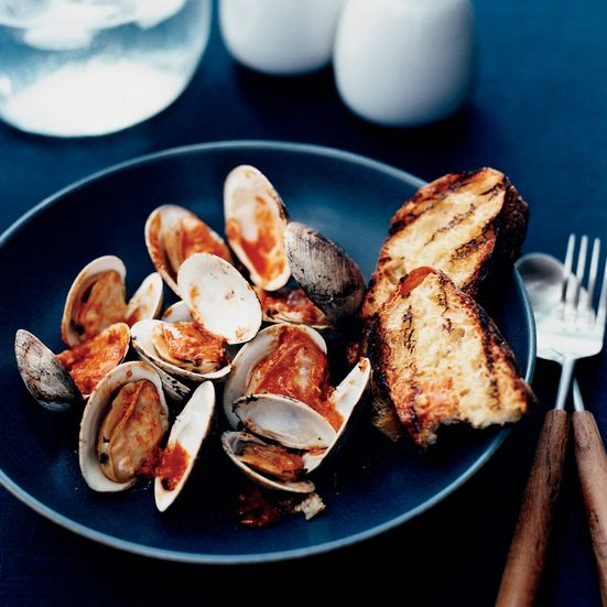 Pop-Open Clams with Horseradish-Tabasco Sauce Recipe - Marcia Kiesel | Food & Wine