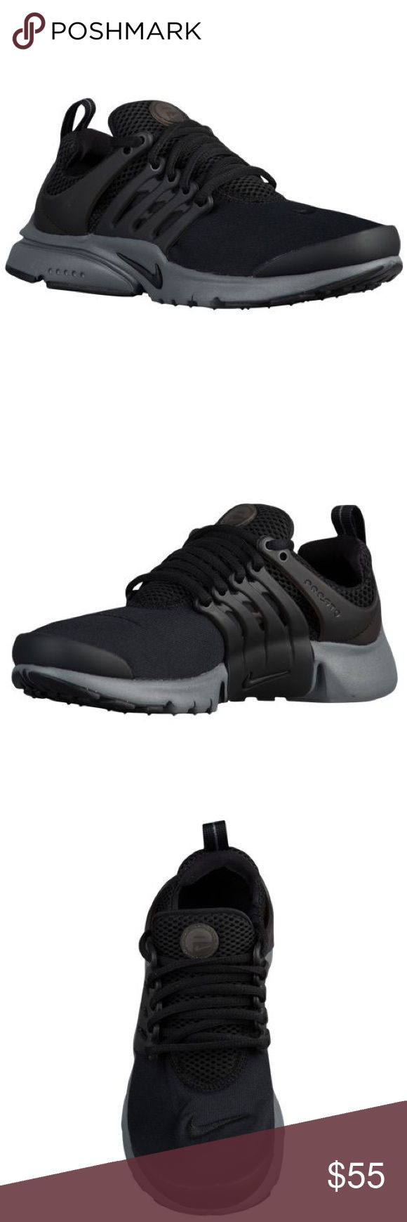 Nike Presto (GRADE SCHOOL) In Excellent Condition!!! Like New!!! Only Worn Once!!! (Size:6) GRADE SCHOOL SIZE!!! (Color:Black/Grey) No Trade No Modeling Nike Shoes Sneakers