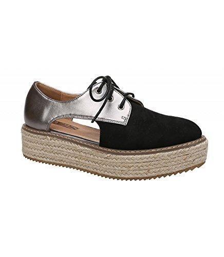 Oferta: 27.9€. Comprar Ofertas de Zapato con plataforma. Aperturas laterales. Detalle brillante. Cierre mediante cordones. Altura de la suela 5 cm. barato. ¡Mira las ofertas!