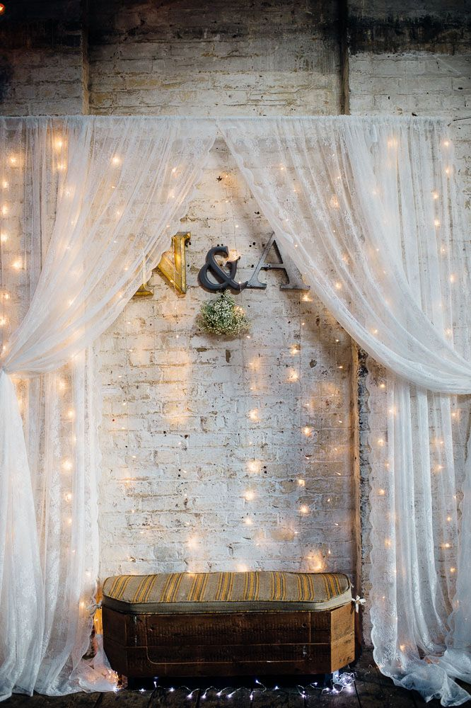 Sparkly, DIY-Heavy Brixon Warehouse Wedding · Rock n Roll Bride -repinned from LA wedding officiant https://OfficiantGuy.com