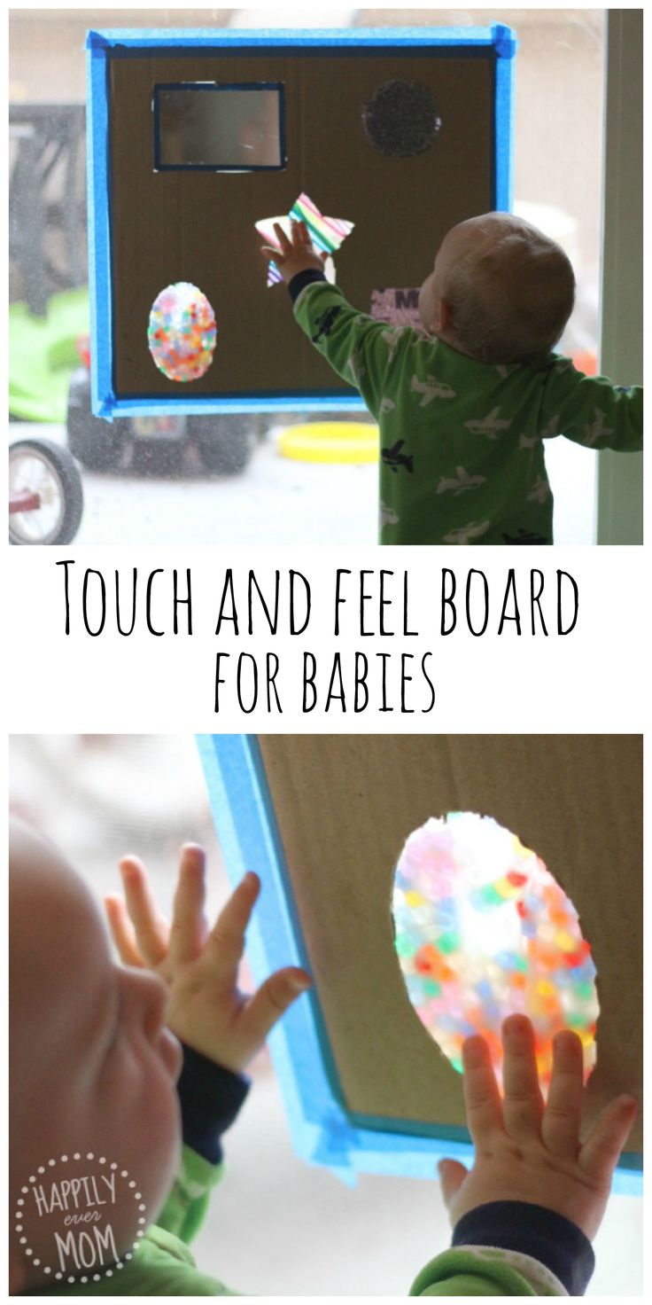 Baby Games DIY touch and feel board - easy to do, endless fun.