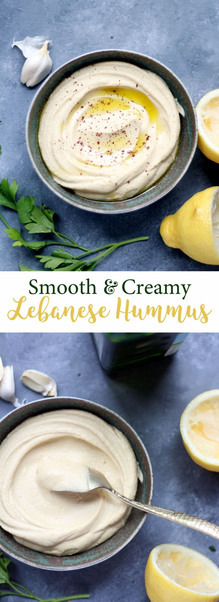 Delicious + Traditional Hummus made in the Vitamix blender