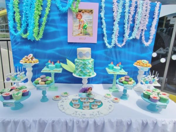Diy under the sea party kit little mermaid under the sea for Ariel party decoration ideas