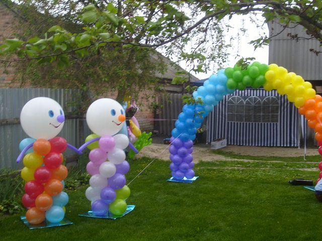 Как украсить двор на день рождения?