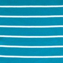 Interlock Stripes - Pagoda Blue and White