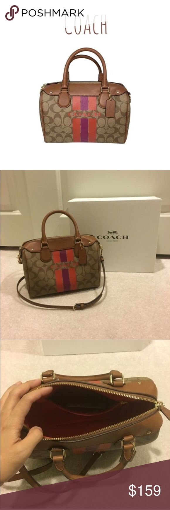 "Coach satchel bag top handle shoulder strap COACH BENETT  Brand new!! 100% authentic.   Removable shoulder strap.  Comes with Coach gift box and paper bag.  Dimension: 9"" x 7"" x 5""  Will provide gift receipt.   NO TRADE!!! Coach Bags"