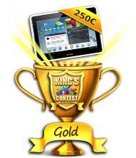 """Gagner des cadeaux avec le jeu gratuit King Contest Gold """" INCROYABLE ! Le nombre de cadeaux qu'une joueuse fidèle a gagnée sur le site http://www.gooprize.com/inscription-2-527466.html ! Un site qui a envoyé + de 320 000€ de cadeaux à ses joueurs depuis le 25 janvier 2013 ! Vous vous rendez compte ! de la pure folie ! Il parait que c'est le site de jeux gratuits qui va faire le buzz en 2015/2016 ! Je partage l'info, foncez et repartez avec le plein de cadeaux ! """""""