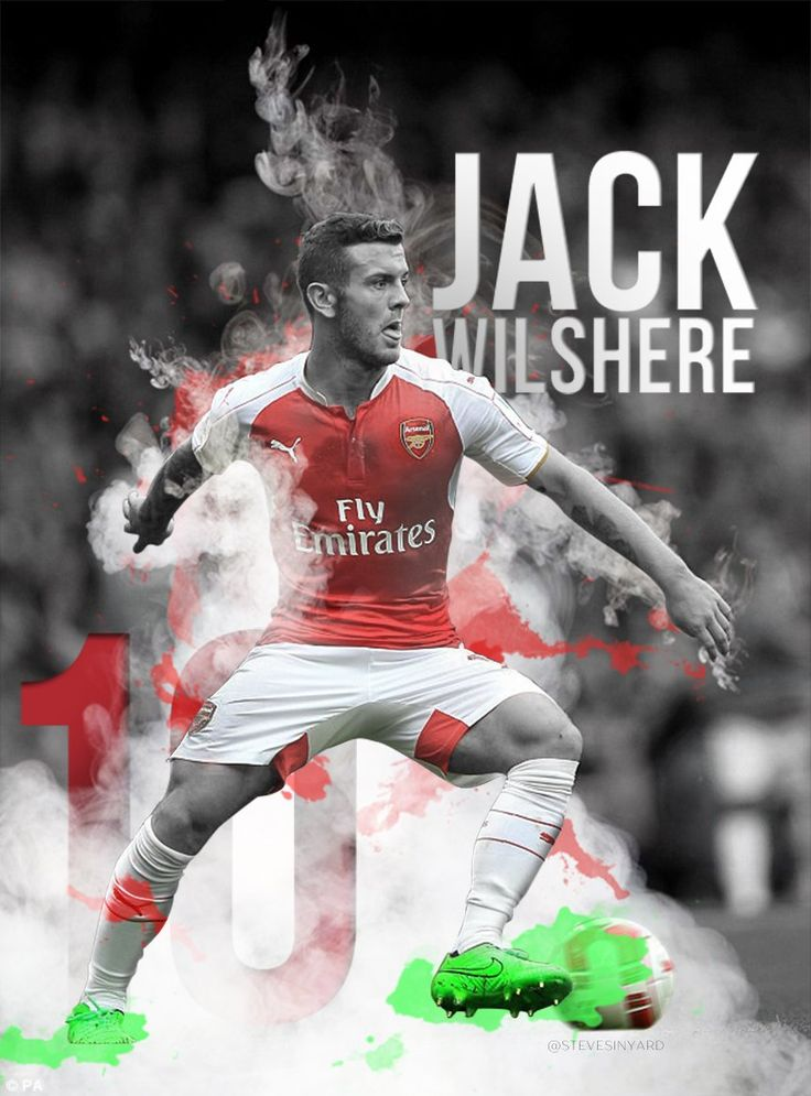 Photo edit of Arsenal's Jack Wilshere - Steve Sinyard