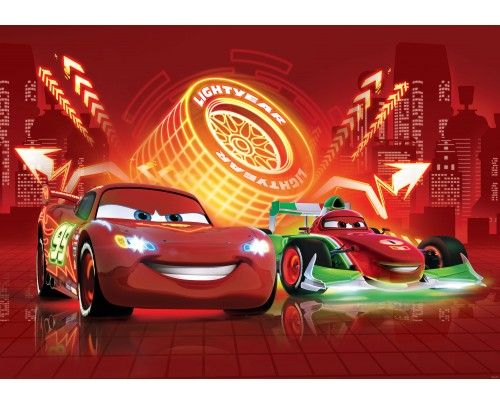 Behang Cars - Disney - XXL (312x219cm) of XXXL (416x254cm)