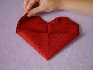 Brud  Bröllop - Servettbrytningar - Hjärtat