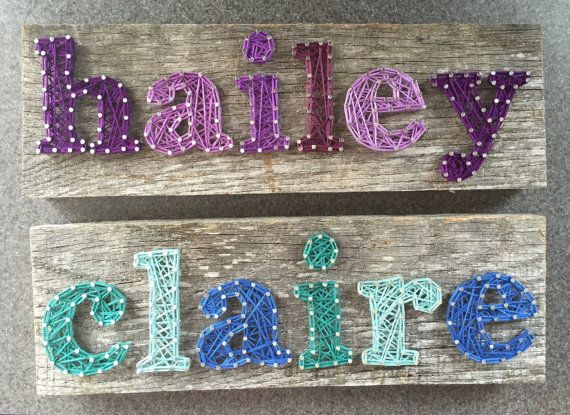 Name String Art 6-7 CHARACTERS on Barn by PurpleFinchCreations
