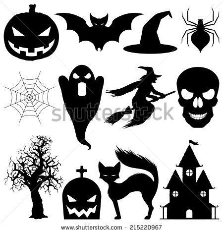 Halloween elements.
