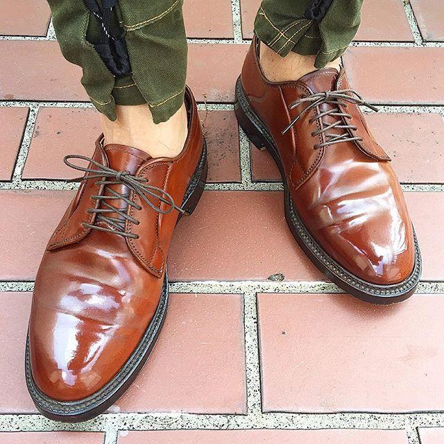 2016/10/04 09:13:46 replenishgram 👣Today's feet👣 秋の花粉にやられて鼻がムズムズ👃  #足元#足元くら部#足元倶楽部  #kapital#キャピタル #shoestagram#instashoes#instakicks #alden#オールデン #cordovan#コードバン #shoes#革靴#靴 #👞