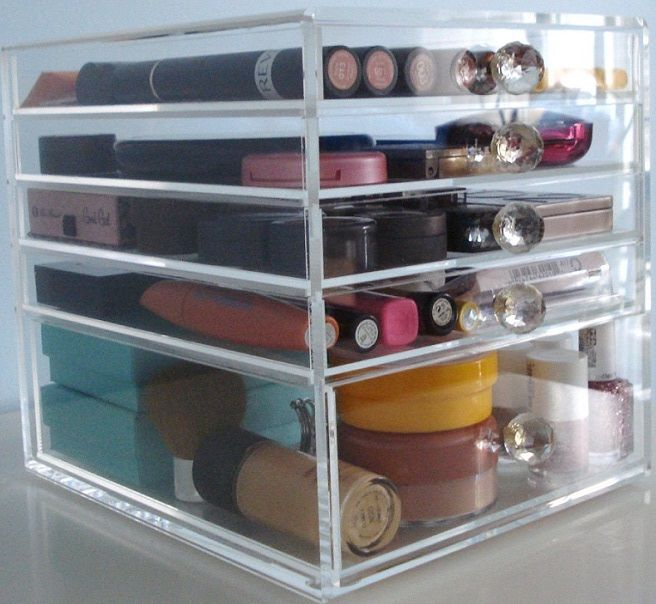 ACRYLIC - MAKEUP / COSMETICS ORGANIZER - 5 DRAWER - BEAUTY CUBE - STORAGE / CASE & 394 best f0R MY R00M images on Pinterest | Drawers Cabinet drawers ...