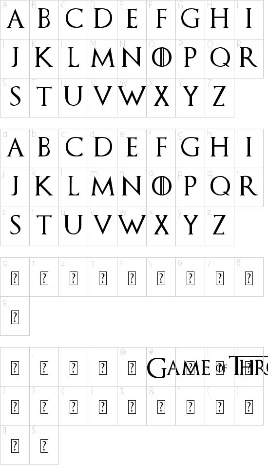 GoT font. Download it, install it, and use it in Word to make banners.
