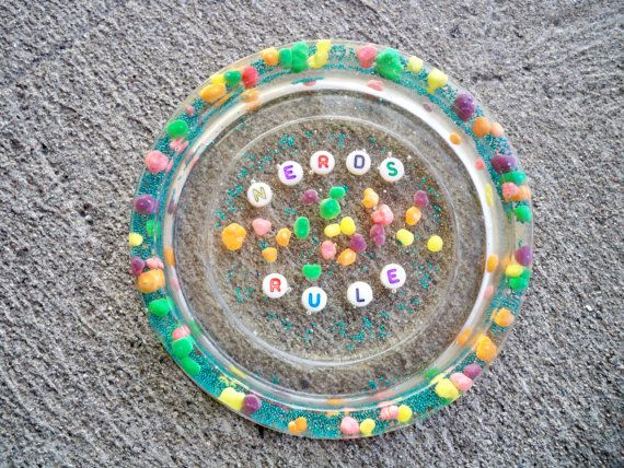 Nerds Candy Resin Coaster Resin Candy Dish by LafayetteStGeorge, $23.00