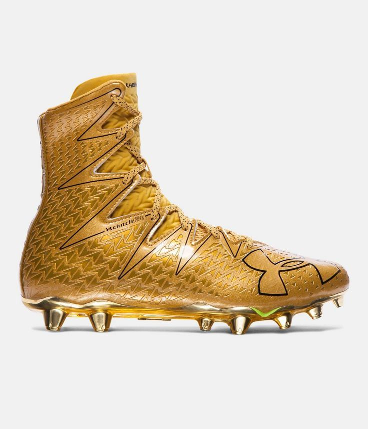 Image result for gold under armour football cleats