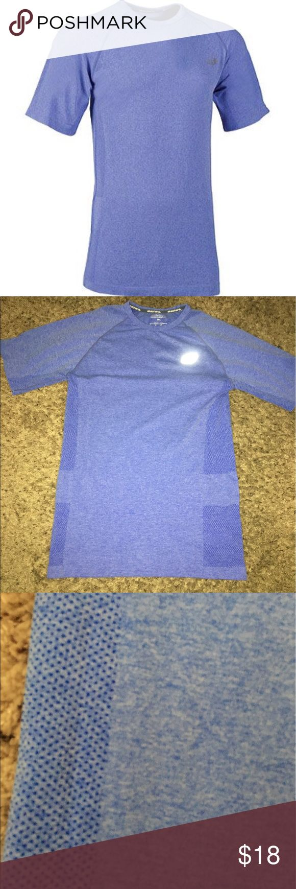 "Men's Sketchers Active Shirt Heather blue Skechers Go Run T shirt. Great for layering or not. In like new condition. Polyesyer/nylon. Size M-L. 19"" armpit to armpit unstretched. 29"" long from shoulder. Please see my other men's listings. BUNDLE & SAVE 20%!! Skechers Shirts Tees - Short Sleeve"