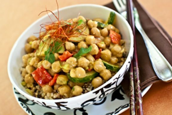 This deeply flavorful chickpea curry is almost effortless in preparation. Everything comes together quickly and you have an exotic bean entrée to serve over rice.
