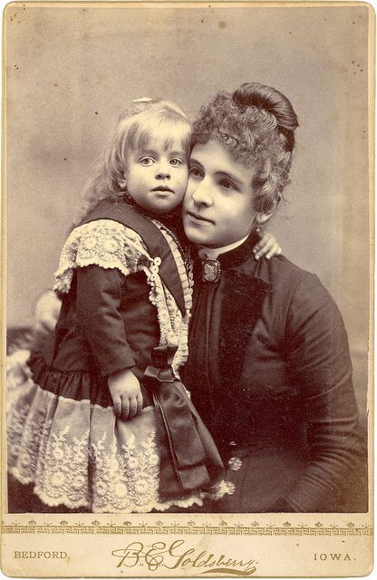 1880s Mother and Child Cabinet Card - Happy Mother's Day to Loving Mothers Everywhere