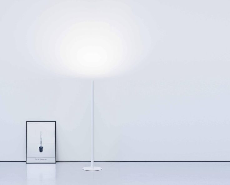 Mister Floor Lamp designed by Omar Carraglia, is a simple, light, unique, pure, and essential floor lamp. This light was designed to give depth to the space as it is very minimalistic as if it was standing on a cloud. See more thin lights at LightForm.ca