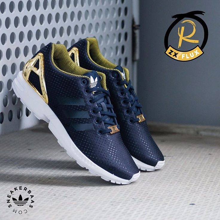 Adidas Flux Navy And White