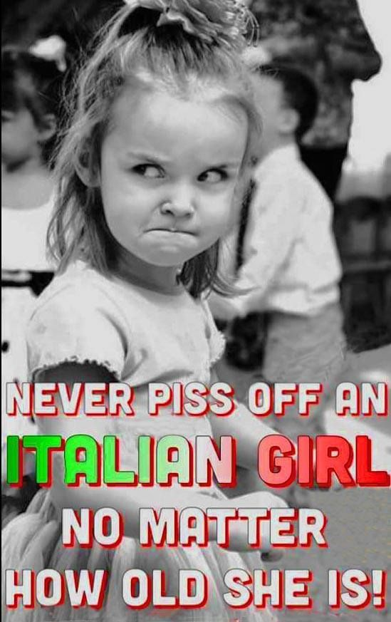 Never piss off an Italian girl no matter how old she is! | Italy & Italians  | Funny pictures, Funny memes, Funny