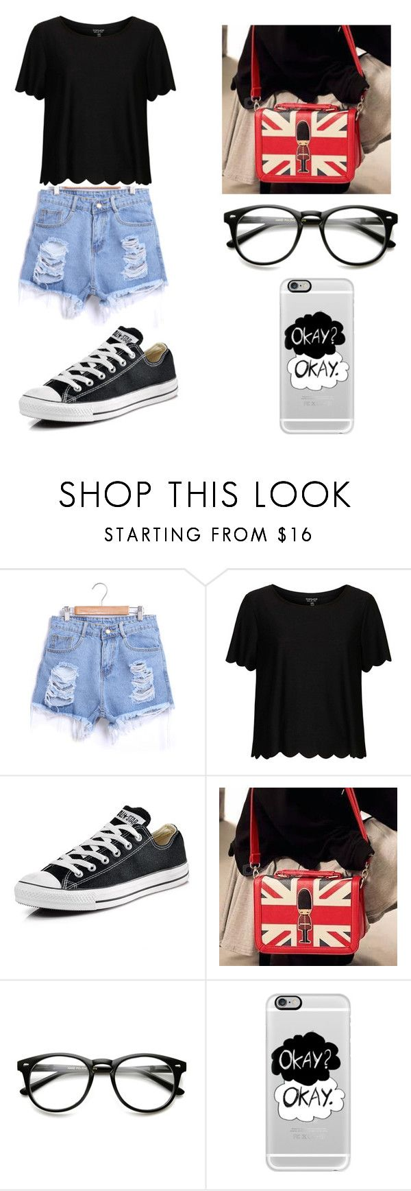 """""""Untitled #67"""" by karenrodriguez-iv on Polyvore featuring Topshop, Converse, PG Beauty, Casetify, women's clothing, women's fashion, women, female, woman and misses"""