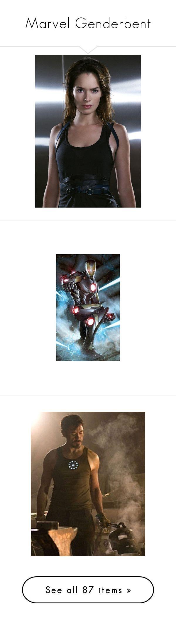 """Marvel Genderbent"" by angeltomlinson ❤ liked on Polyvore featuring lena headey, marvel, avengers, natalie dormer, chris evans, pictures, captain america, art, celebrities and marvel thor"