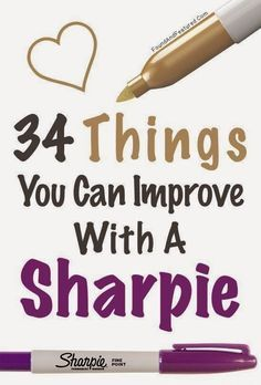 34 Fun DIY Projects You Can Make Using A Sharpie | Craft Projects and Things You Can Do With Markers