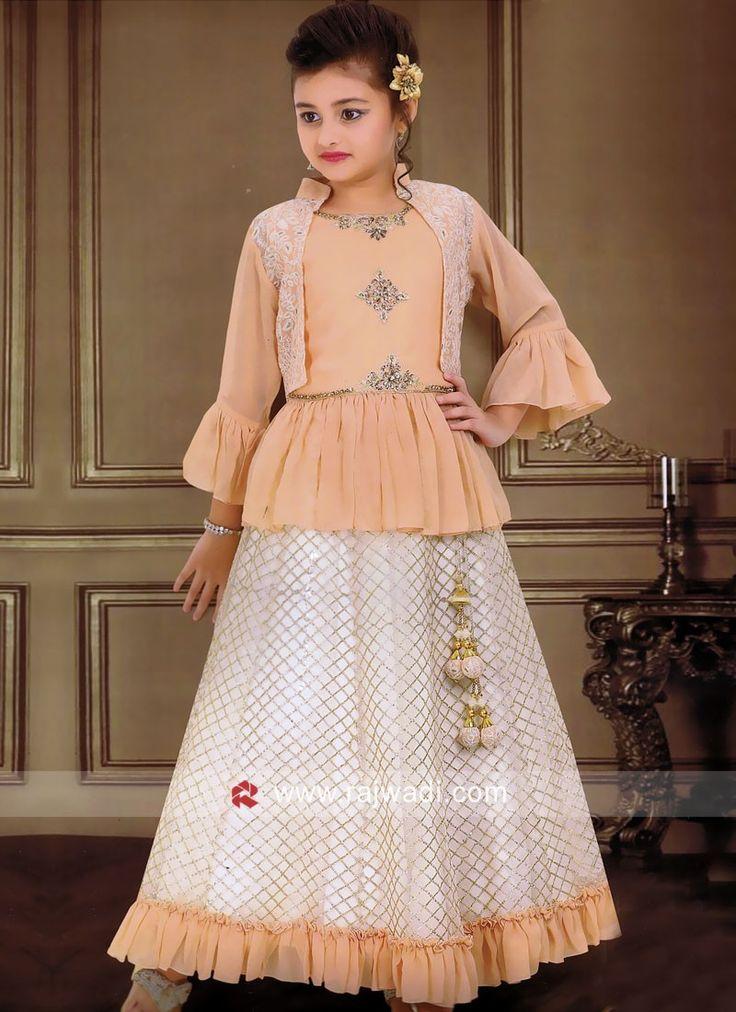 Designer Koti Style Kids Choli Suit...   Girls dresses ...