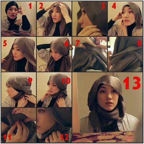 Hana hijab style