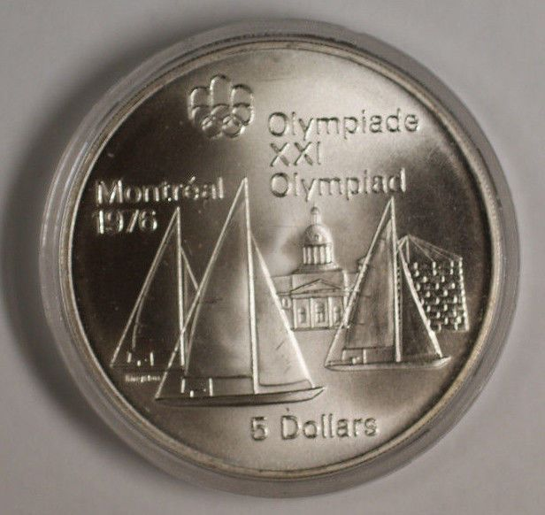 1973 Canada RCM 5 Dollar Silver 1976 Montreal Olympic Games Silver Coin  Price : $24.95  Ends on : 3 weeks Order Now
