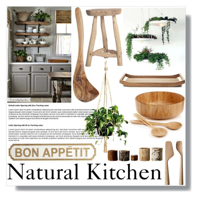 """Natural Kitchen"" by mayafunnyface ❤ liked on Polyvore featuring interior, interiors, interior design, home, home decor, interior decorating, Hotel Collection, Georg Jensen, Pier 1 Imports and Bloomingville"