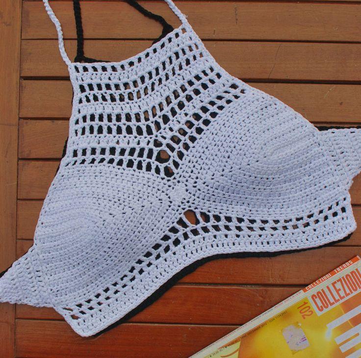 Elegante Halter Crochet Hippie de bohemia del verano camisa corta, hechos a mano Crochet bikini, encaje traje de baño bikini conjunto en Conjuntos de Bikinis de Moda y Complementos Mujer en AliExpress.com | Alibaba Group