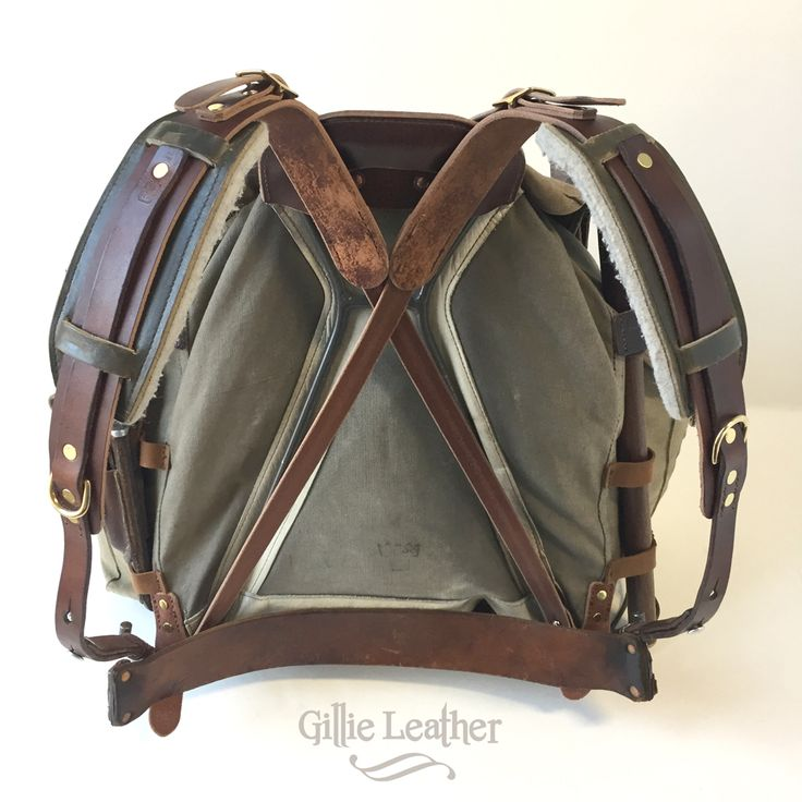 Bush Craft, Bushcraft, SHTF, Survival, Backpack, M39 Swedish Rucksack Frame & Body with new and borrowed leather from Swiss Army and Norwegian Army gear. - By Gillie Leather