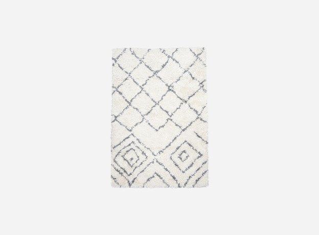 Hz0210 - Tæppe, Kuba, ivory/grå, 80% uld/20% bomuld